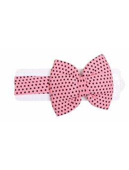 Bentita elastica roz cu inimi mici
