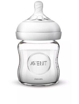 Biberon sticla Philips-Avent Natural SCF051/17, cu tetinadebit lent, 120 ml