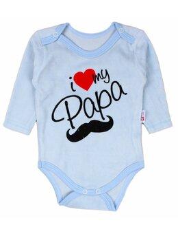 Body catifea bleu I love mi Papa