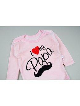 Body catifea roz I love mi Papa