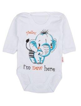 Body ml elefant alb