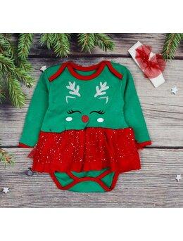 Body tip rochita cu bentita model verde-rosu