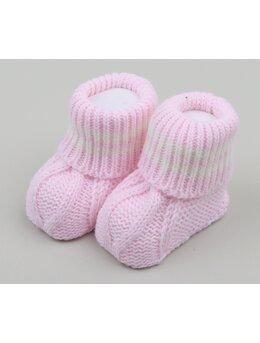 Botosei croset mode roz cu dungi
