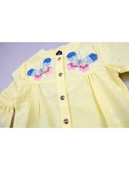 Camasa fluturas model galben
