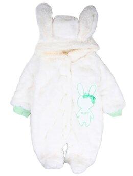 Combinezon baby iepuras alb