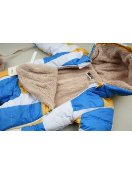 Combinezon de fas bleu-galben-alb