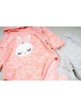 Compleu 2 piese coral Bunny
