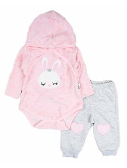 Compleu 2 piese roz Bunny