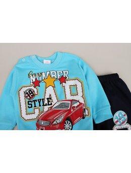 Compleu CAR for boy model turcoaz