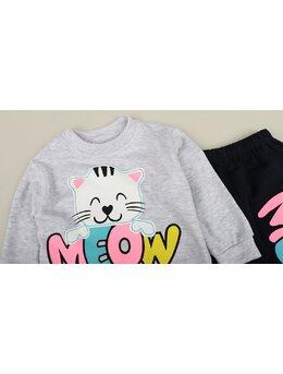 Compleu cat meow gri