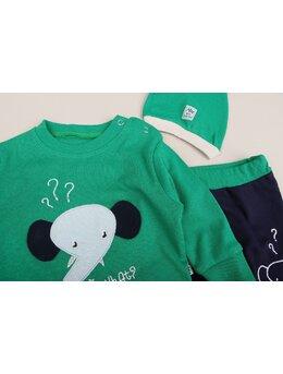 Compleu elefantel 2 piese model verde