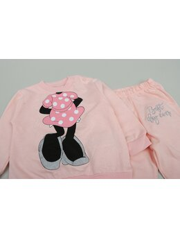 Compleu Minnie Mouse 2 piese model coral
