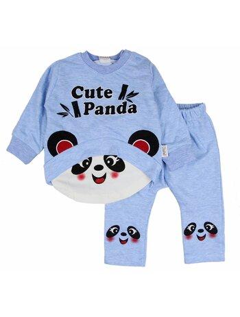 Compleu Panda bleu 2 piese