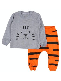 Compleu portocaliu 2 piese tigre
