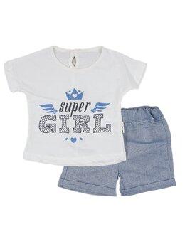 Compleu super girl albastru
