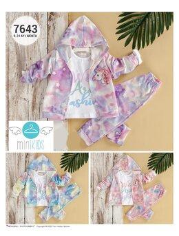 Compleu unicorn baby rose model bleu