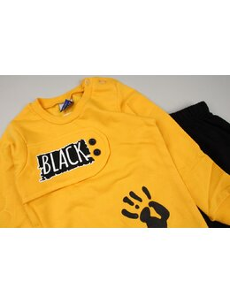 Compleu vatuit Black model galben