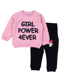 Compleu vatuit GIRL POWER roz