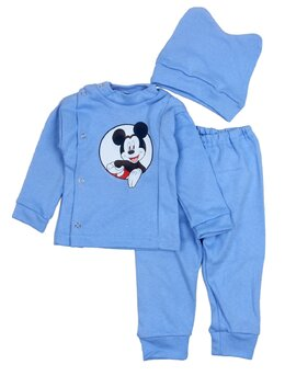 Costum 3 piese Mickey bleu