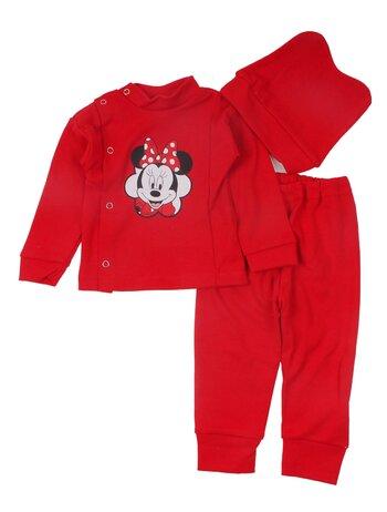 Costum 3 piese Minnie rosu