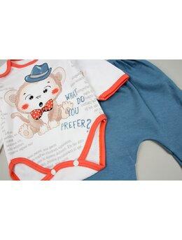 Costumas 3 piese maimutica albastru pal