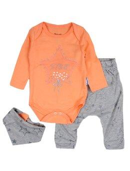Costumas 3 piese stars portocaliu