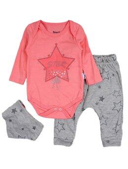 Costumas 3 piese stars roz aprins