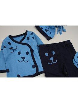 Costumas 5 piese baby albastru