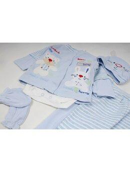 Costumas 5 piese bumbac bleu
