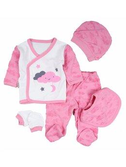 Costumas 5 piese norisori roz intens