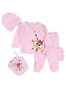 Costumas 5 piese roz albinuta