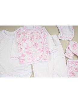 Costumas 6 piese imprimeuri roz