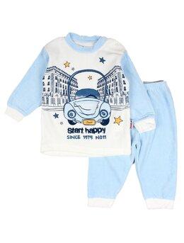 Costumas catifea masinuta model bleu