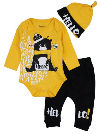 Costumas Hello bear galben