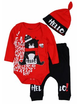 Costumas Hello bear rosu