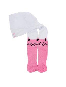 Dres pisicuta alb-roz