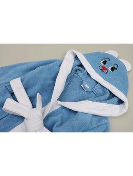 Halat de baie iepuraș model bleu
