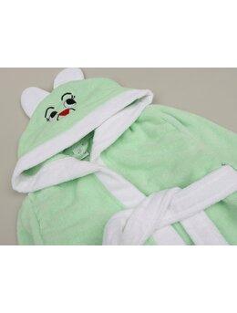 Halat de baie iepuraș model verde