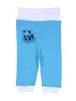 Pantalonasi bleu cu banda elastica in talie