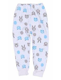 Pantalonasi de pijama ursuleti bleu-gri