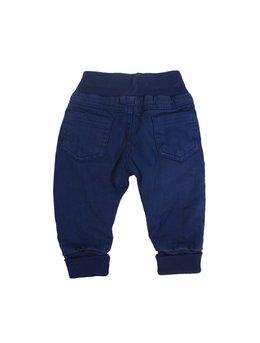 Pantaloni albastri cu elastic in talie
