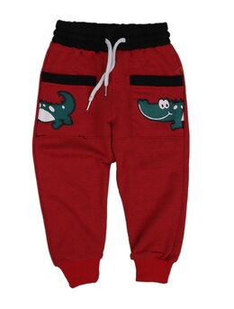 Pantaloni de trening crocodil rosu