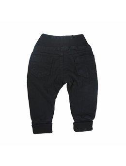 Pantaloni negri cu elastic in talie