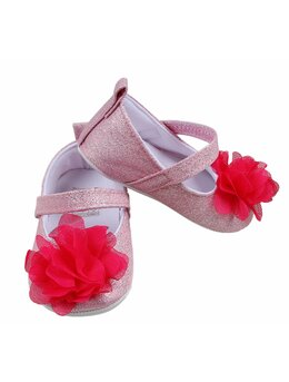 Pantofiori cu floricica model roz