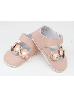 Pantofiori eleganti fetite cu floricele model coral