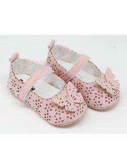 Pantofiori eleganti fetite cu fluturas model roz