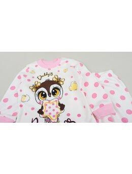 Pijama bufnita roz