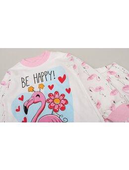 Pijama Flamingo model roz