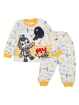 Pijama galaxy model galben