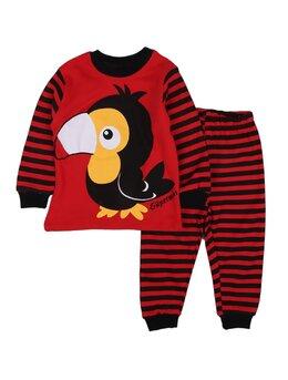 Pijama papagal rosu